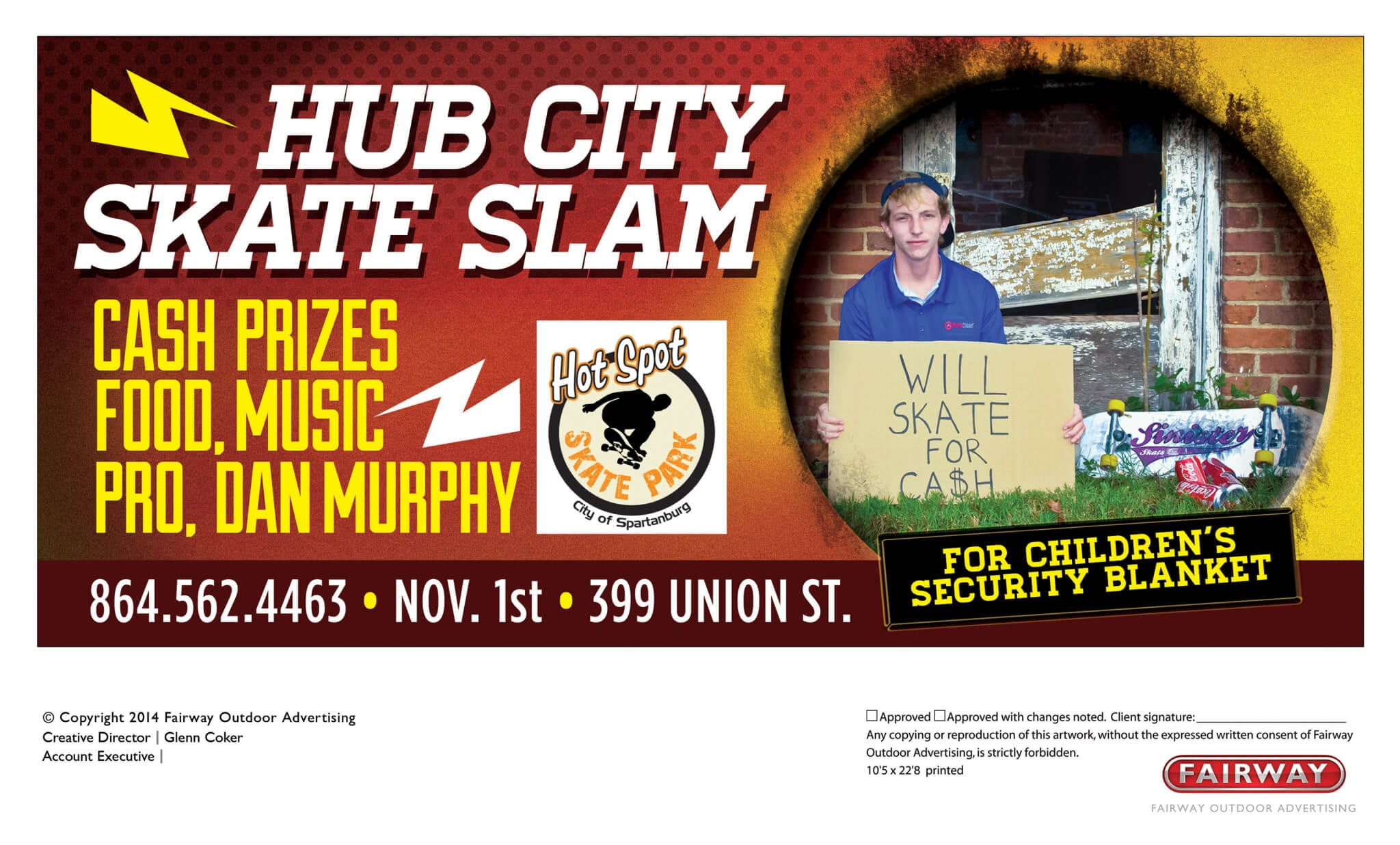 Hub City Skate Slam Poster, Banner, Billboard
