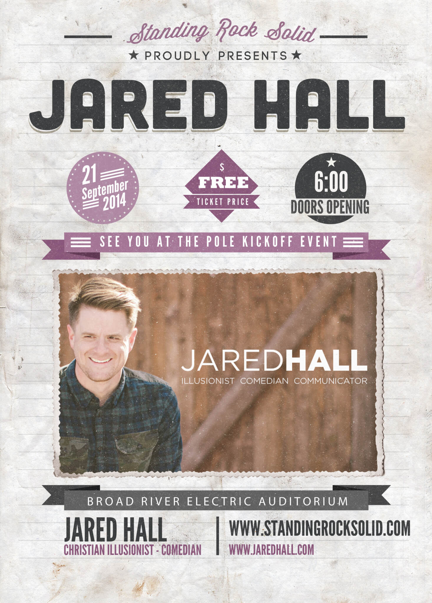 Jared Hall Event Poster