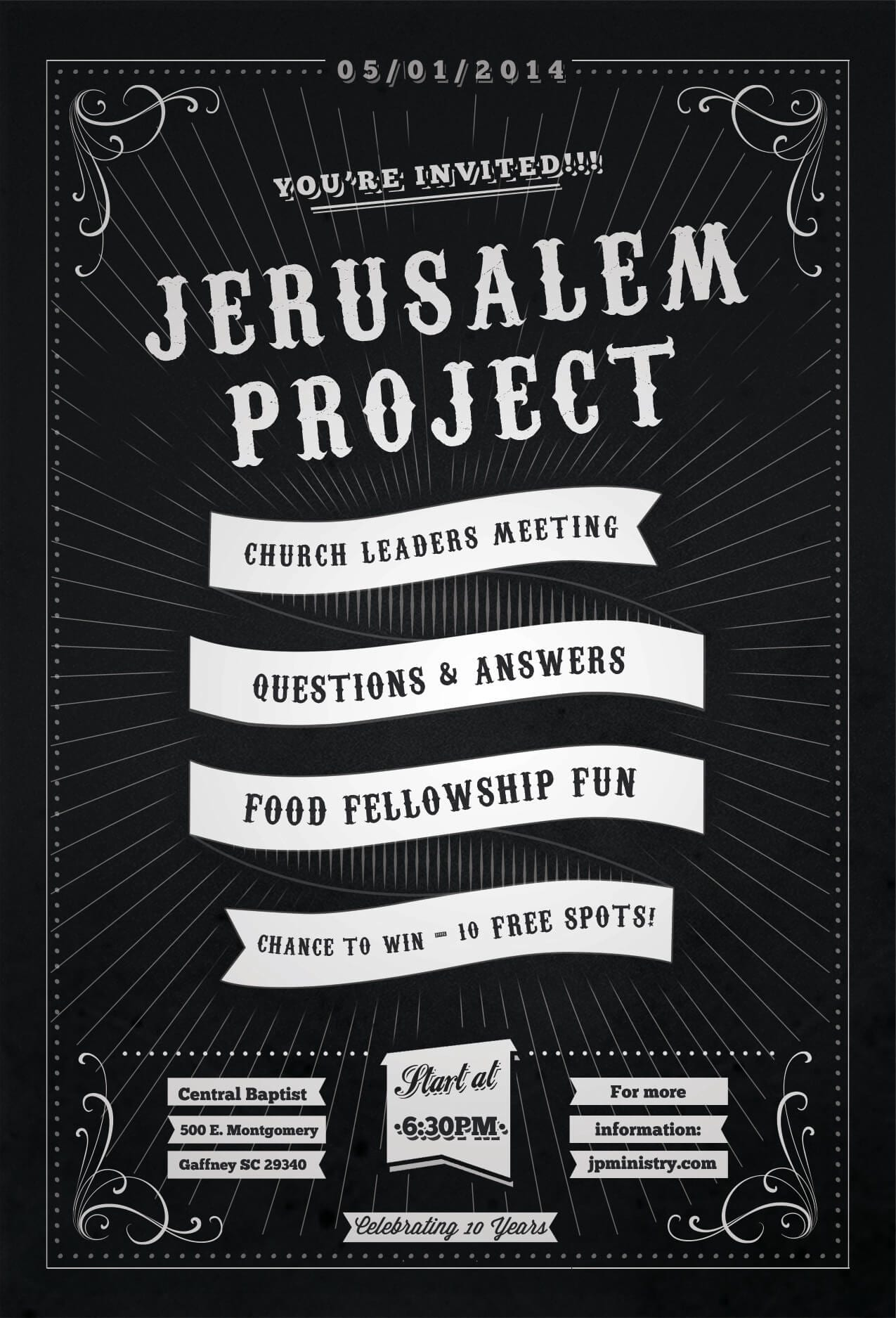 Jerusalem Project Event Postcard