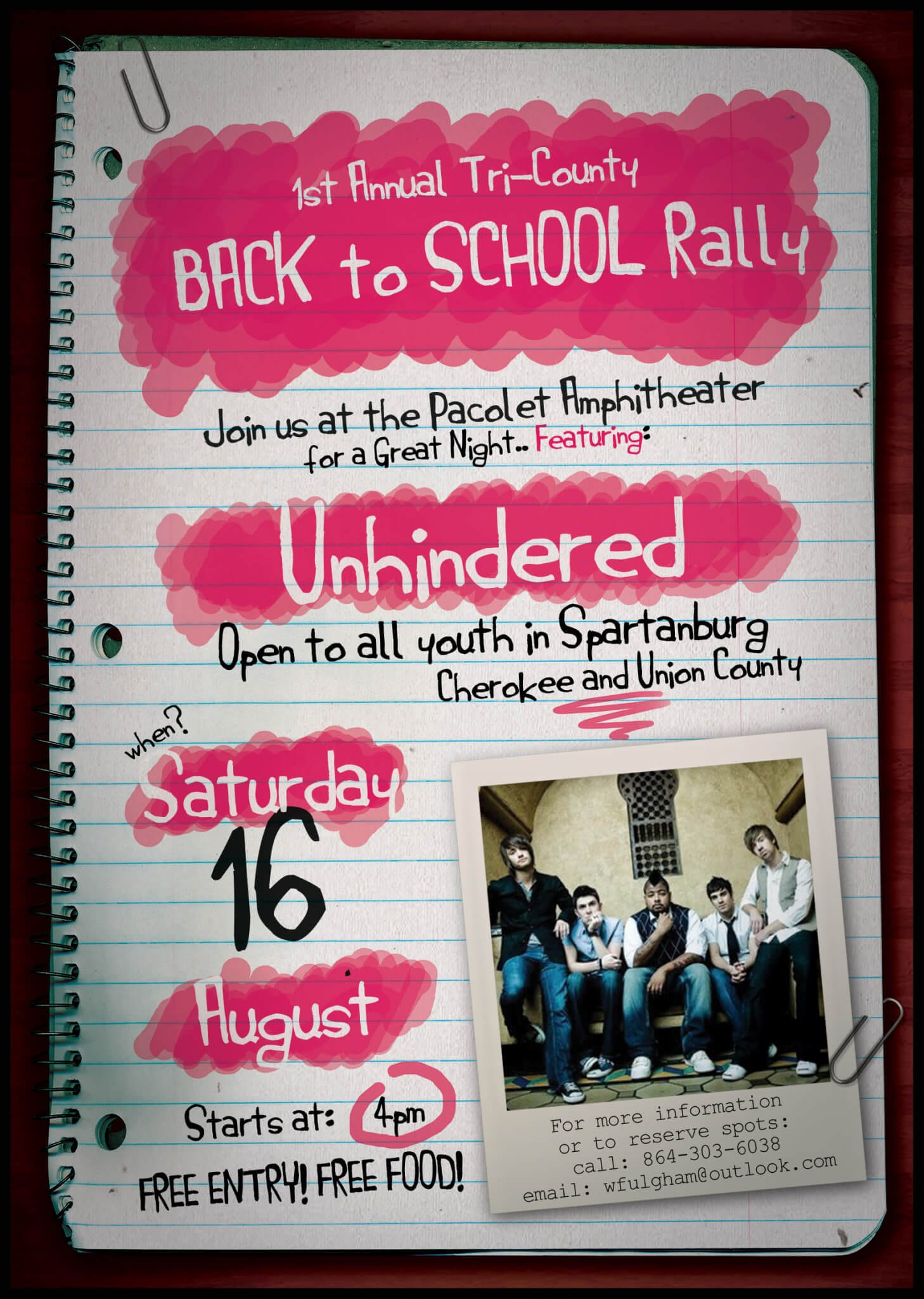 Back to School Rally Poster