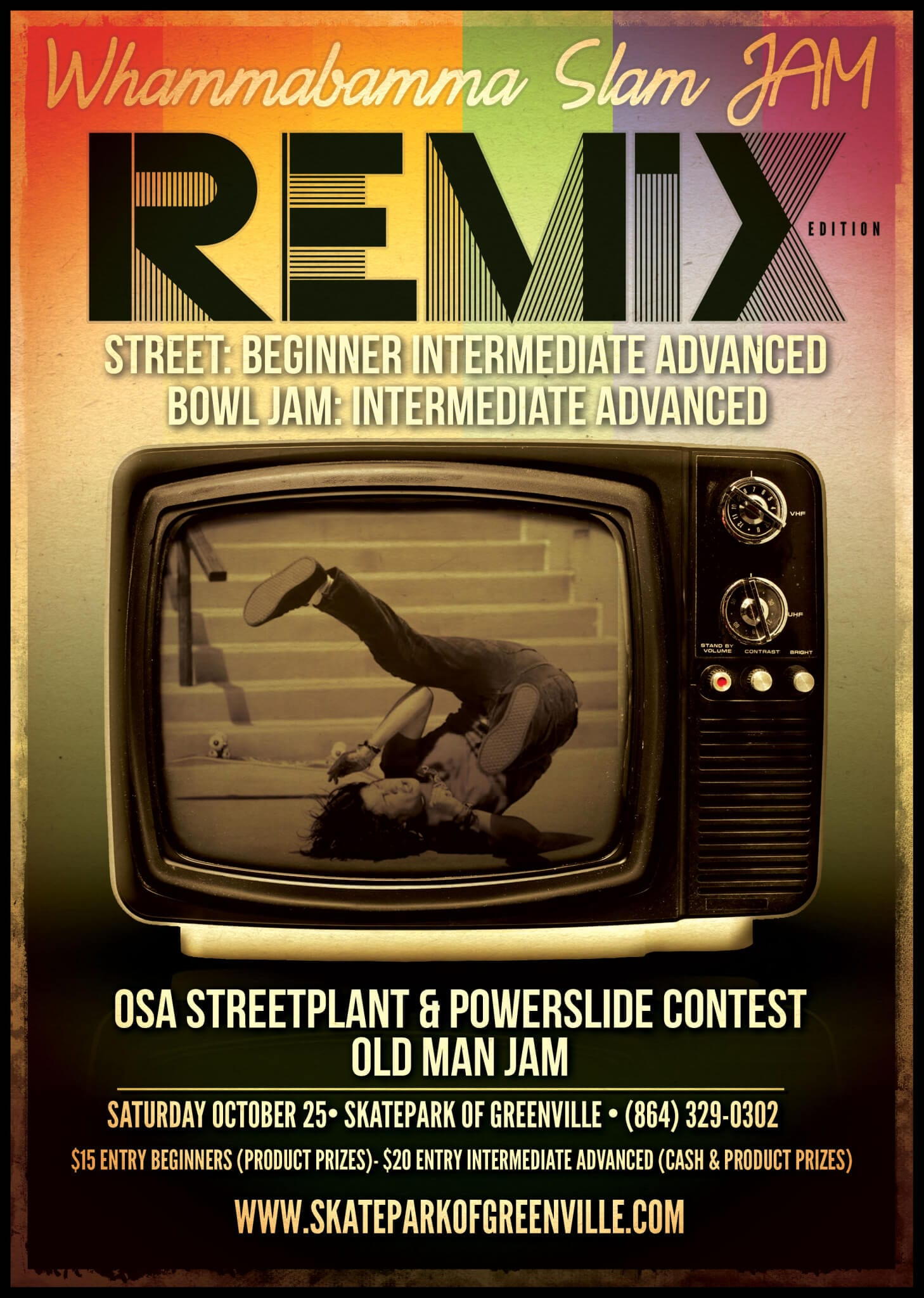 Remix Skateboard Contest Poster