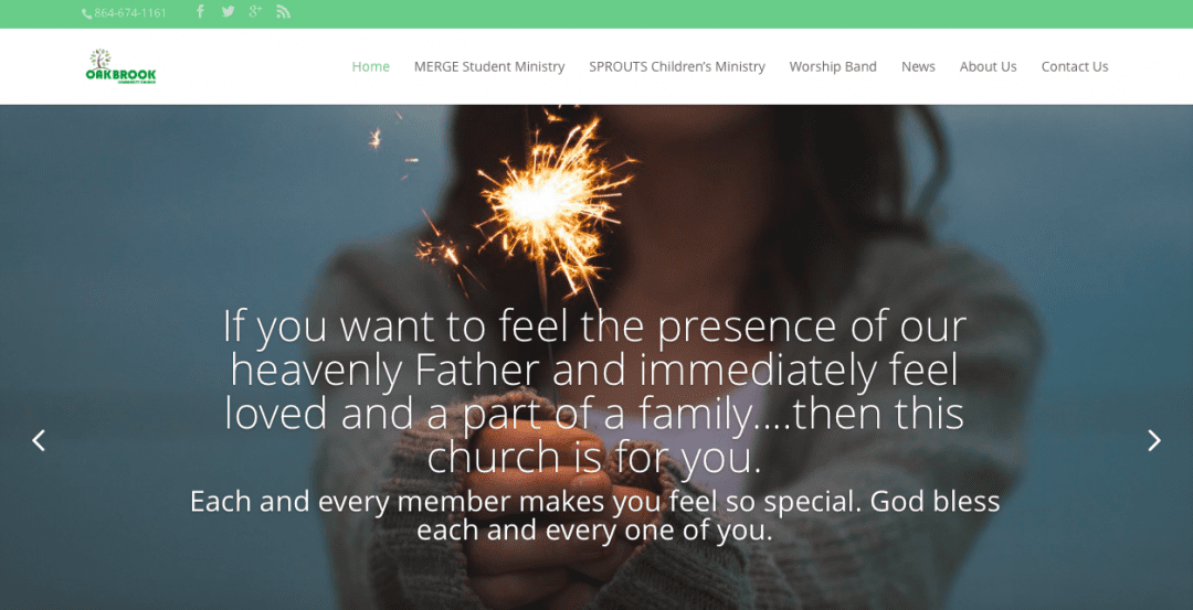 Oakbrook Community Church – Website